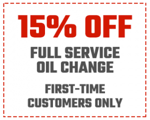 New Customers 15% off Full Service Oil Change